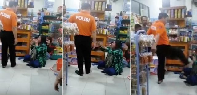 Pria diduga AKBP Yusuf tendang ibu di minimarket