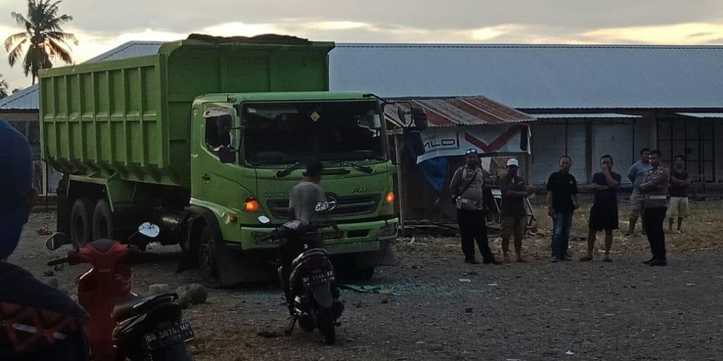 Mobil yang menabrak korban di Cilallang