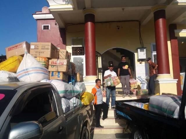 KPU Luwu Salurkan Bantuan Korban Gempa Palu