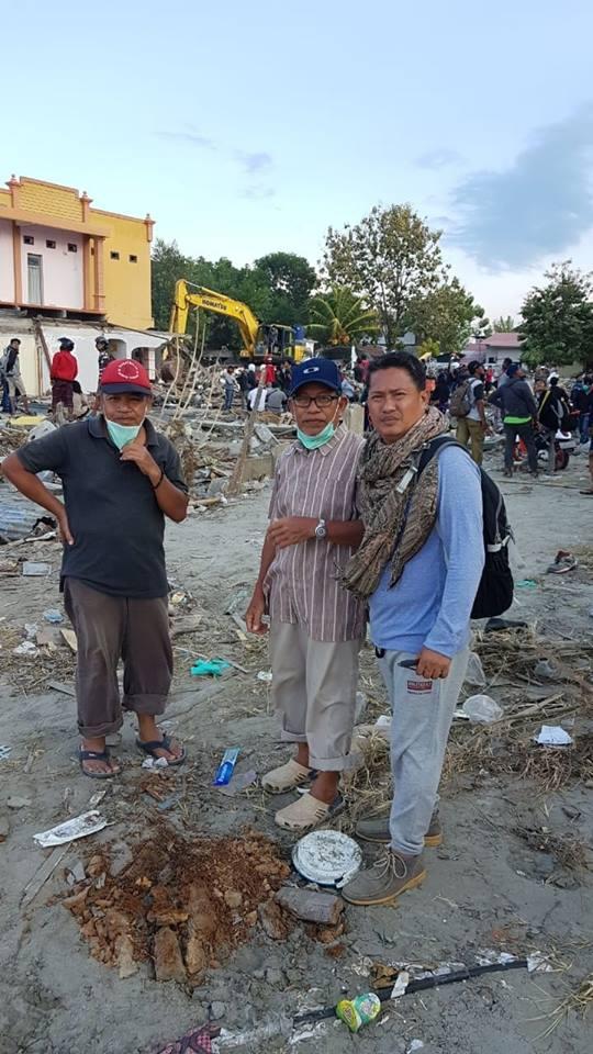 Ketua KKL Sulawesi Tengah, Muhammad Ikbal tengah berada di lokasi gempa