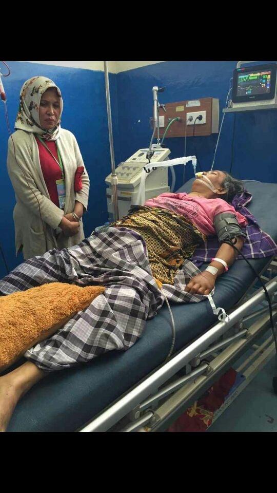 Korban saat dirawat di RS Wahidin Makassar