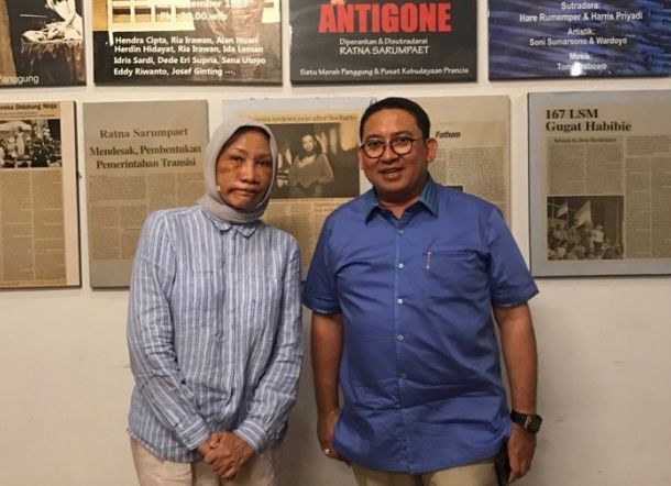 Ratna Sarumpaet bersama Fadli Zon