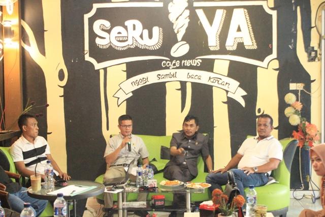 Pengurus DPC PKB Palopo menggelar konsolidasi caleg di Cafe News SeruYA, Senin (1/10/2018)