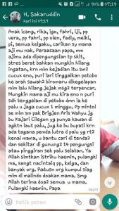 Chatt WA H Sakaruddin kepada putera-puterinya, keluarga dan kerabatnya