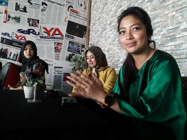 Natassa saat berkunjung ke Koran SeruYA, Kamis (8/12/2018)