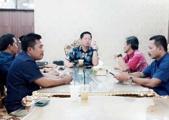 Pertemuan RMS dengan Thahar Rum di Rujab Walikota Palopo