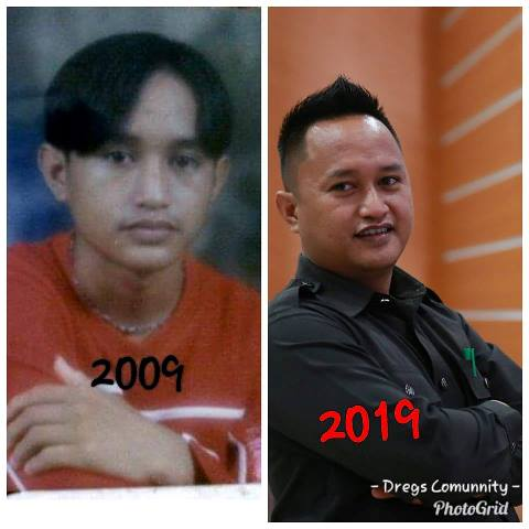 Contoh hashtag 10 year challenge.