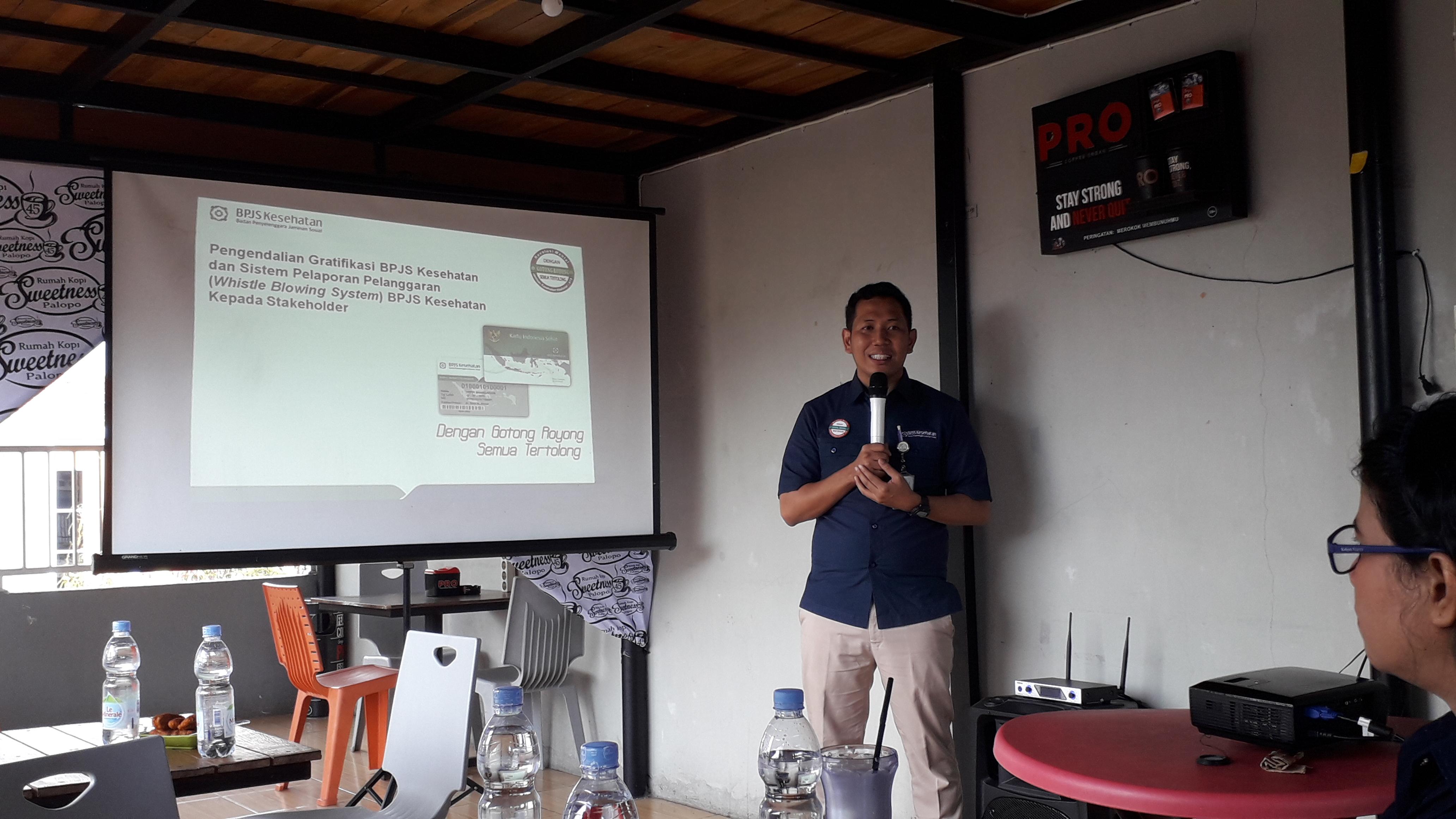 Mahardika Salam, Kepala Bidang SDM ,Umum, dan Komunikasi Publik BPJS Kesehatan Cabang Makale.