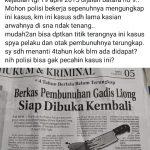 Pembunuh Gadis Liong Sempat Unggah Status Desak Polres Palopo Tangkap Pelaku, Ternyata....