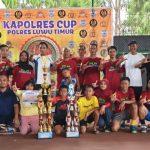 Tim Tennis PLN Asal Palopo Rebut Juara Kapolres Cup Lutim