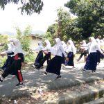 Optimis, SMPN 9 Palopo Rutin Latihan Gerak Jalan Indah