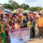 Sambut HUT Kemerdekaan, Ribuan Siswa di Lutim Ramaikan Karnaval Budaya