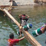 Meriahkan HUT RI, Ada Tarung Bantal di Sungai Noling
