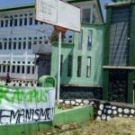 Video : Tuntut Uang Kuliah Turun, Mahasiswa IAIN Bentrok dengan Sekuriti Kampus