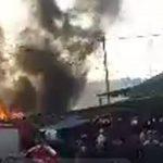 BREAKING NEWS: Pasar Malili Dilalap Si Jago Merah, Rumah Warga Ikut Terbakar