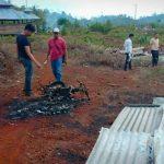 Empat Rumah Pelaku Dibakar, Empat Motor Ikut Hangus Buntut Pembunuhan Warga Salutubu Luwu di Lutim