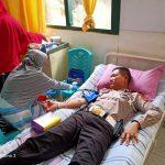 Sinergi TNI-Polri, Polres Palopo Ikut Baksos Donor Darah Peringati Hari Juang TNI AD