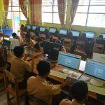 Semester Ganjil, SMPN 4 Palopo Mulai Ujicoba Sistem Ujian Online Selama 5 Hari